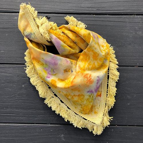 Botanically Dyed Bandana w/Fringe
