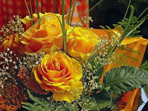 Yellow roses always popular