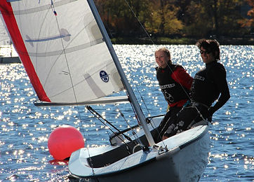 Janelle Veary and Becker Awqatty Northeastern Sailing Charles River College NEISA