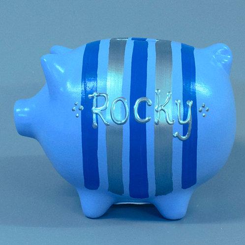 Striped Piggy Bank (More colours)