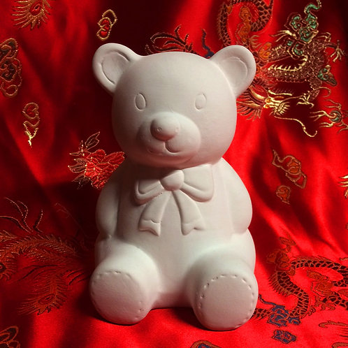 'Paint Your Own' Kit 145 - Teddy bear money bank