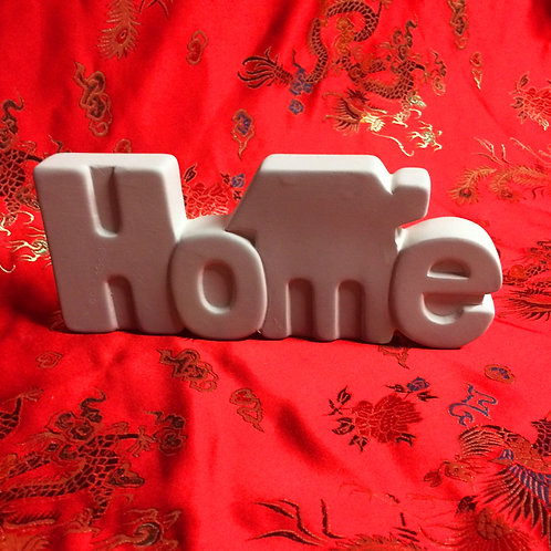 'Paint Your Own' Kit 135 -'HOME 3D' sign