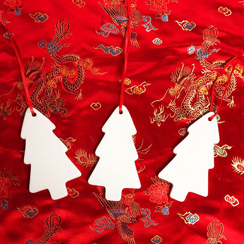 'Paint Your Own' Kit 96 - Tree Hanging Decorations x 3