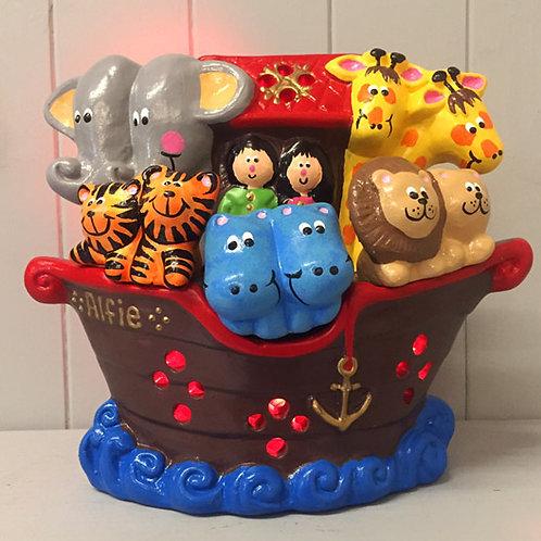 Handmade Ceramic 'Noah's Ark' Children's Nightlight [4 colours]