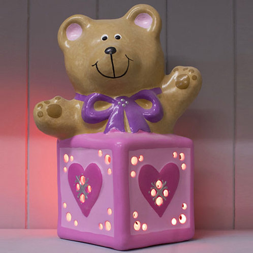 Handmade Ceramic 'Bear in a box' Children's Nightlight