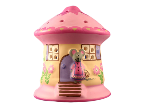 Pink Mouse House Night Light