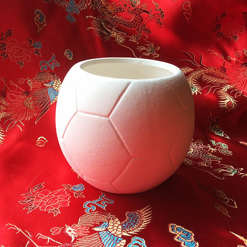 'Paint Your Own' Kit 73 - Football open top pot