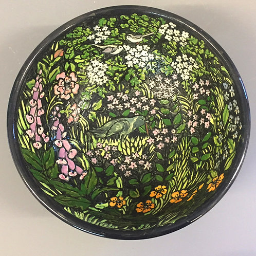 Hand-thrown Limited edition-Garden flowers bowl