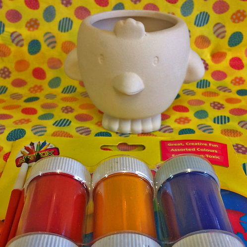 'Paint Your Own' Kit 51 -Chick easter sweets pot