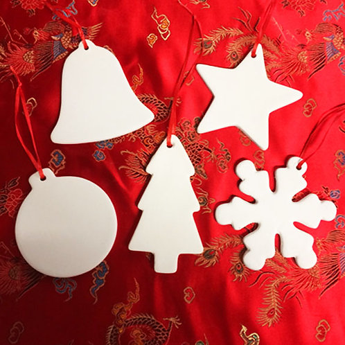 'Paint Your Own' Kit 87 - Christmas Hanging Decorations x 5