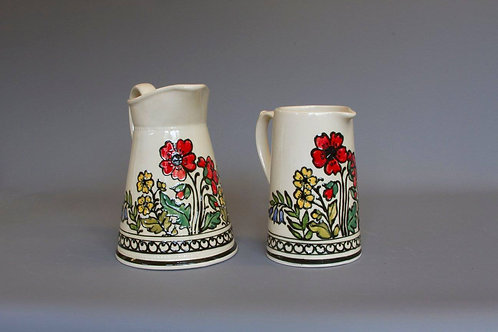 Slip-trailed Floral Jug (2 sizes)