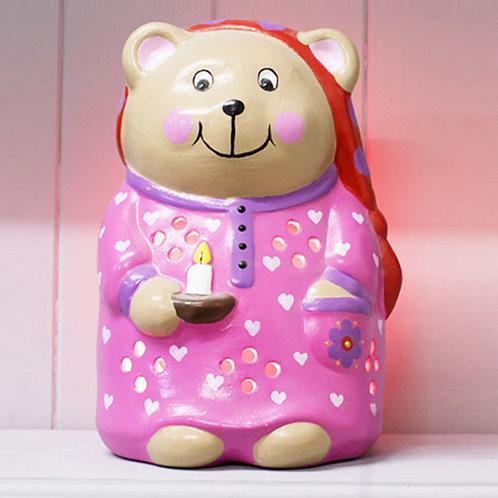Handmade Ceramic 'Bedtime Ted' Children's Nightlight