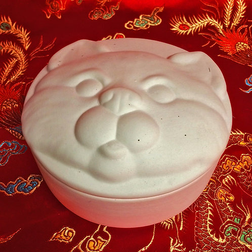 'Paint Your Own' Kit 91 - Cat face trinket box