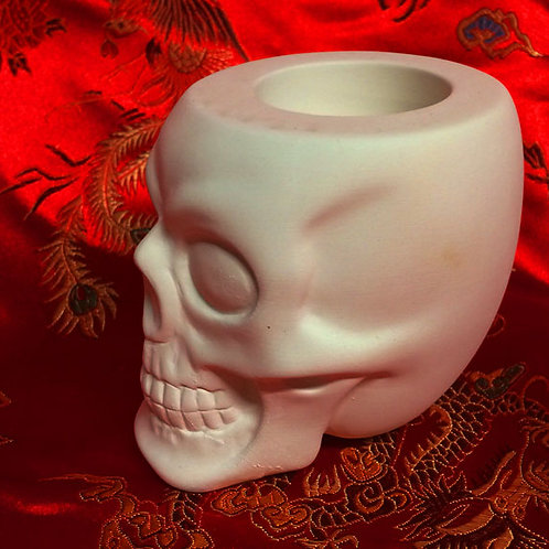 'Paint Your Own' Kit 106 - Skull Tealight