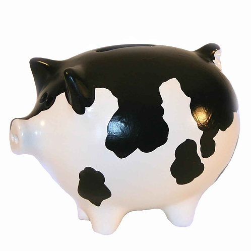 Cow Print Piggy Bank