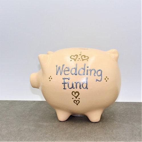 Wedding Fund Piggybank (More background colours)