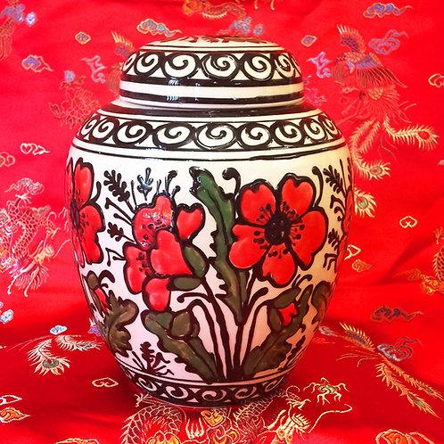 Poppy ginger jar pot