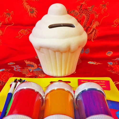 'Paint Your Own' Kit 37 - Cupcake Moneybox