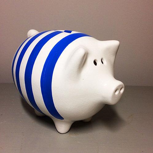 Breton stripe piggy bank (More stripe colours available)