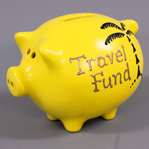 Travel Fund Piggy Bank (More colours)