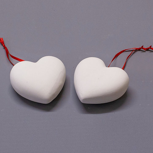 'Paint Your Own' Kit 177 - 3D Heart Hanging Decorations x 2
