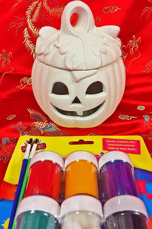 'Paint Your Own' Kit 64 - Pumpkin sweet/trinket pot