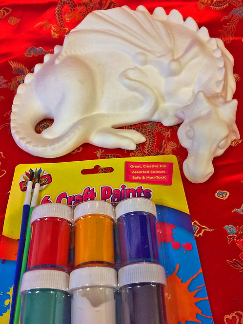 'Paint Your Own' Kit 22 - Large sleeping dragon