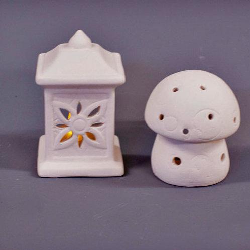 'Paint Your Own' Kit 180 -Toadstool & Lantern Tealights