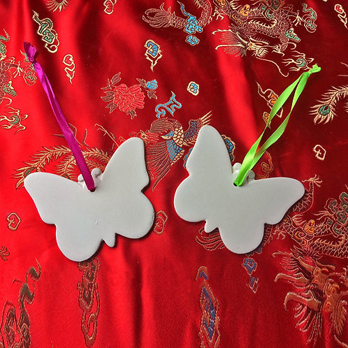'Paint Your Own' Kit 80 -  Butterfly Hanging Decorations x 2