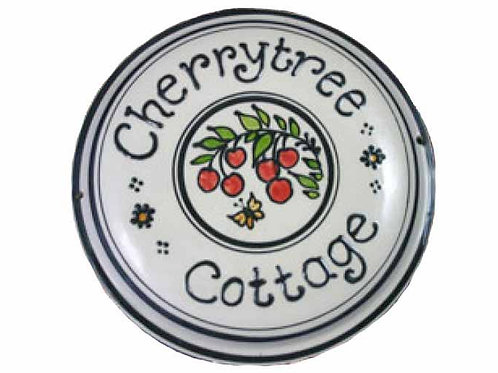 Handmade Personalised Cherry House Plate