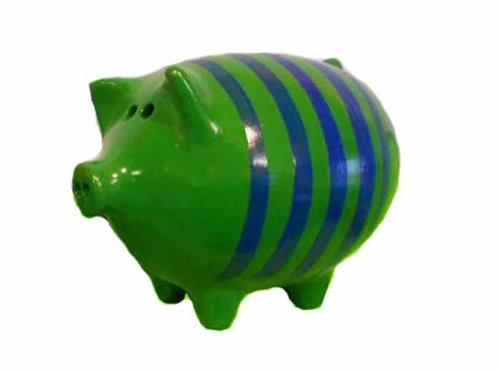Striped Piggy Bank