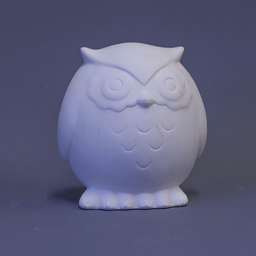 'Paint Your Own' Kit 172 -Tawny owl round money box