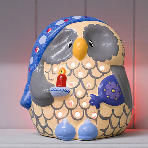 Handmade Ceramic 'Bedtime Owl' Children's Nightlight (2 Colours)