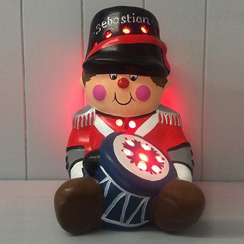 Handmade Ceramic 'Little Drummer Boy' Children's Nightlight