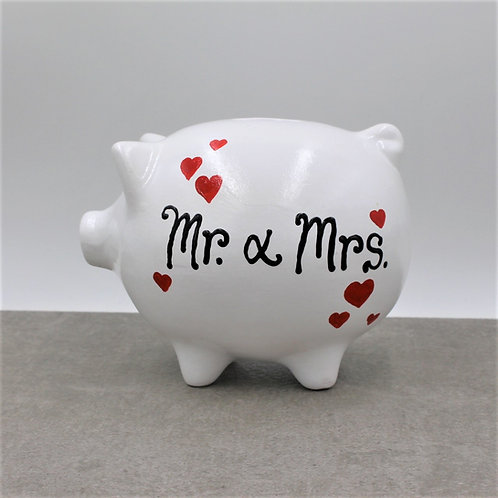 Small hearts Wedding Piggybank options Mr&Mrs/Mr&Mr/Mrs&Mrs (More colours)