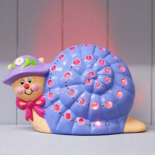 Handmade Ceramic 'Snail' Children's Nightlight
