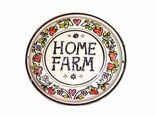 Handmade Personalised Strawberry House Plate