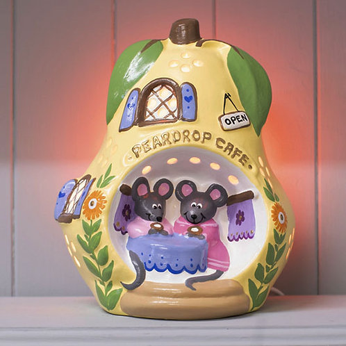 Handmade Ceramic 'Peardrop Cafe' Children's Night Light