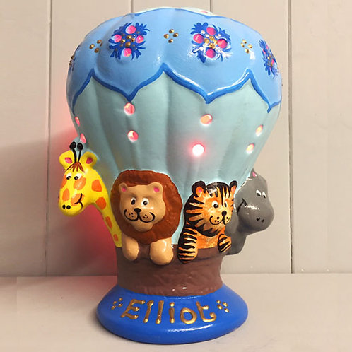 Handmade Ceramic 'Zoo Balloon' Children's Nightlight [3 colours]