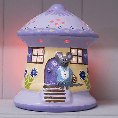 Handmade Ceramic 'Mouse House' Children's Nightlight [3 colours]