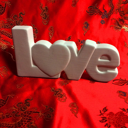'Paint Your Own' Kit 134 -'LOVE 3D' sign