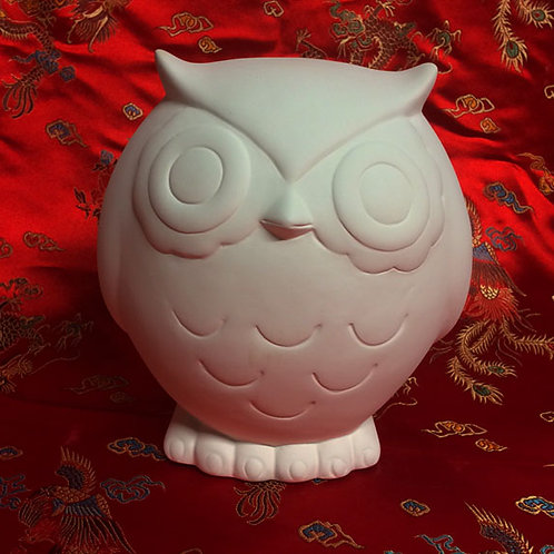 'Paint Your Own' Kit 100-Owl medium size money bank