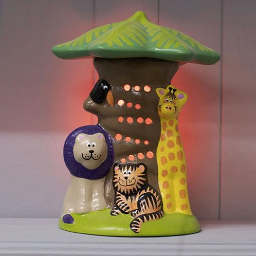 Handmade Ceramic 'Jungle' Children's Nightlight