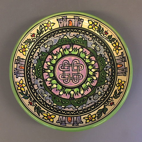 Hand-thrown Limited edition-Celtic shallow bowl