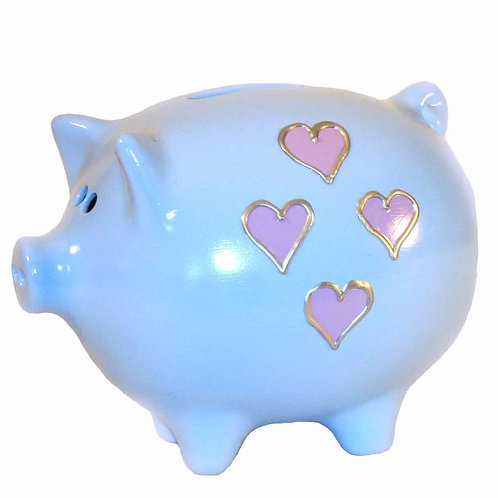Small Hearts Piggy Bank