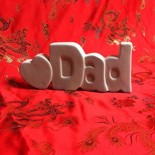 'Paint Your Own' Kit 136 -'DAD 3D' sign