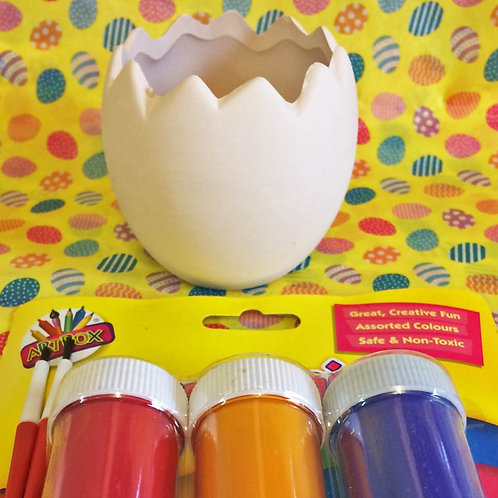 'Paint Your Own' Kit 50 -Half egg easter sweets pot