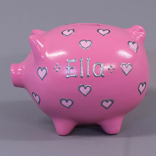 Small Hearts Piggy Bank (More colours)