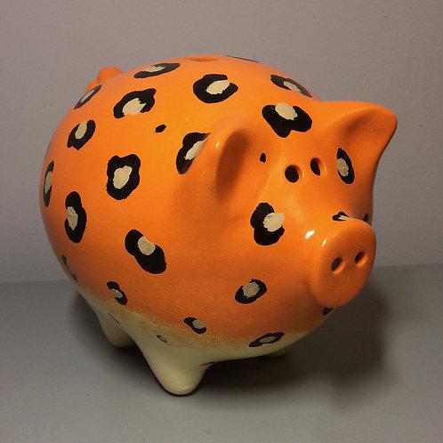 Leopard Print Piggy Bank