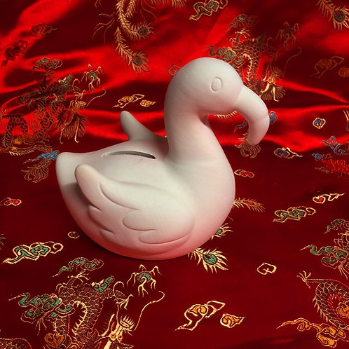 'Paint Your Own' Kit 110 - Flamingo money bank